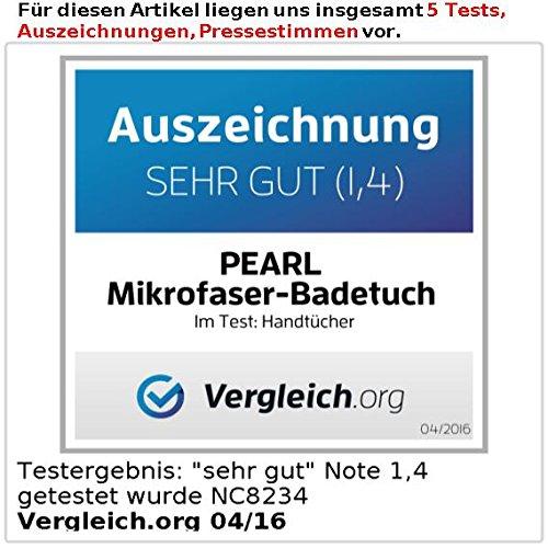 PEARL Extra saugfähiges Mikrofaser-Badetuch 180 x 90 cm, schwarz - 3