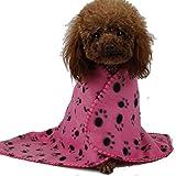 Seiten Versehen Flanell Saugfähigen Tuch Die Plüsch Teppich Cushion Haustiere Gewidmet (Rosa, M: 100x70cm) - 2