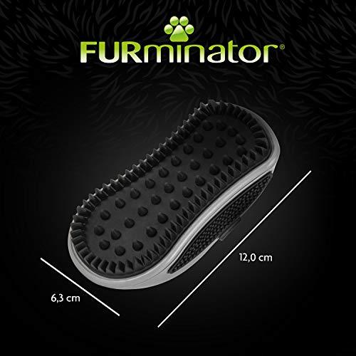FURminator Striegel für Hunde (Fellpflege Hundebürste zum Ausbürsten von Staub und losem Haar für gesundes glänzendes Fell, mit Gummi Noppen und ergonisch geformtem Griff) - 5