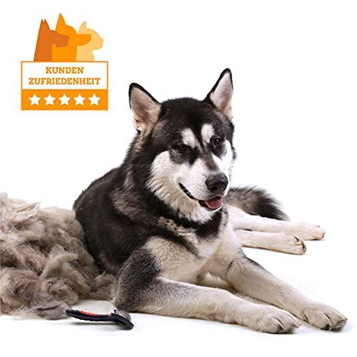 VITAZOO Premium Fellbürste in schwarz für Hunde und Katzen | 2 Jahre Zufriedenheitsgarantie | Hundebürste, Hundehaarbürste, Softbürste - 9